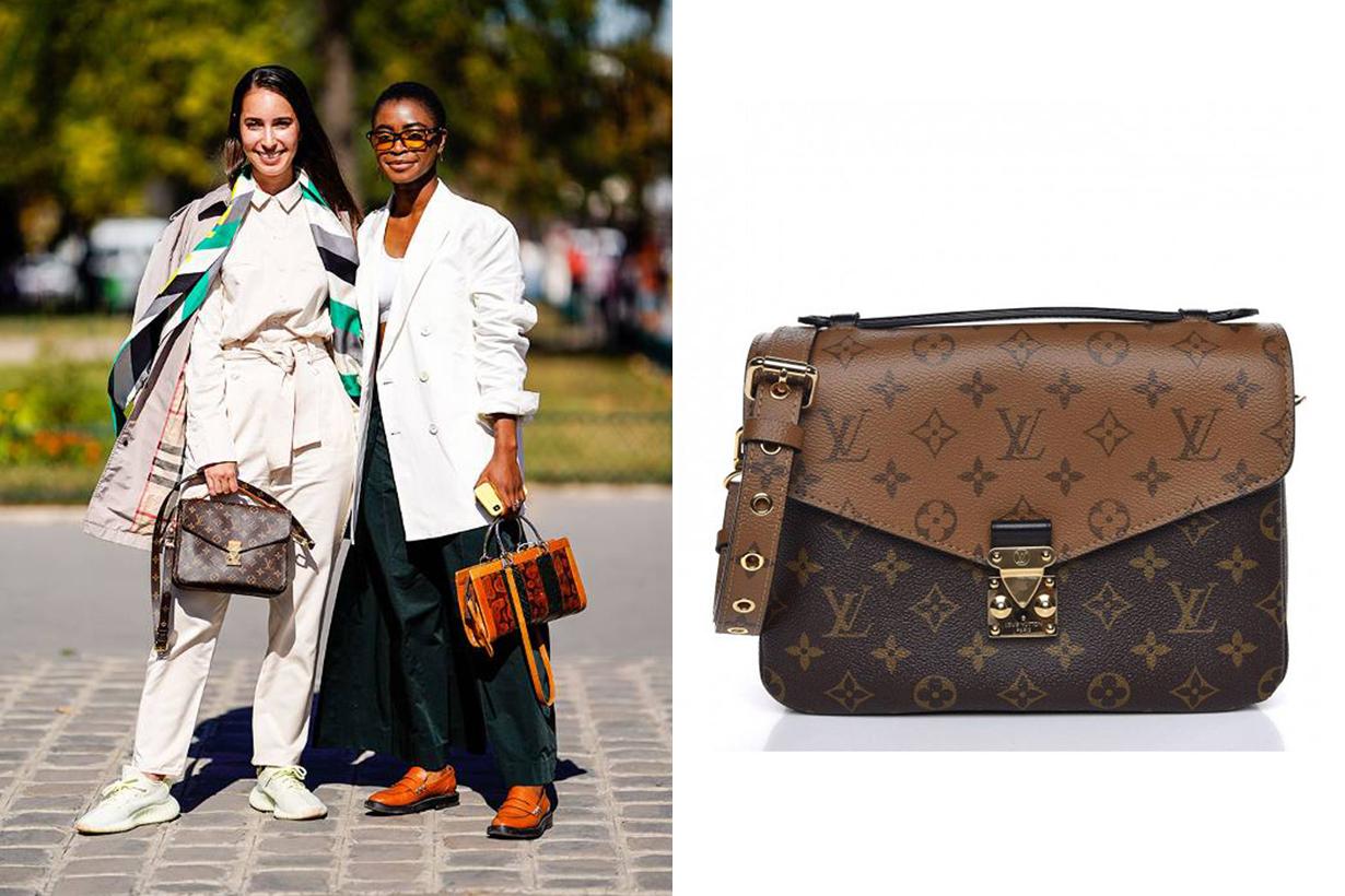 Louis Vuitton Reverse Monogram Pochette Métis Street Style