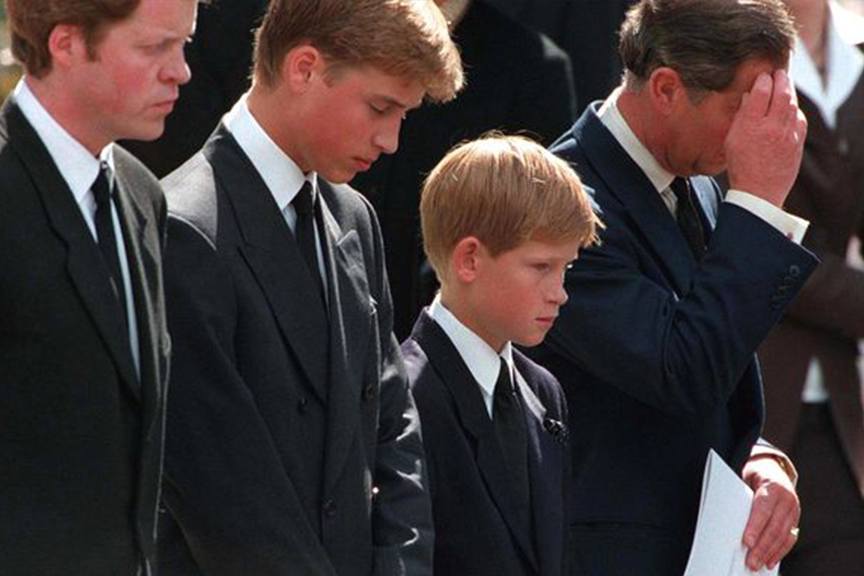 Prince-William-Prince-Harry Funeral