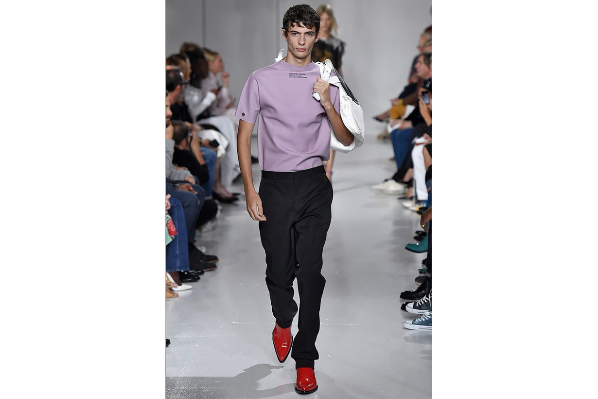 A look from Raf Simons's spring/summer 2018 collection for Calvin Klein, shown during New York Fashion Week