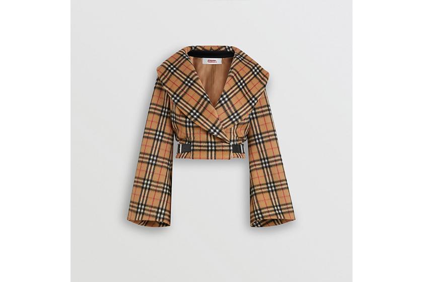Burberry and Vivienne Westwood Vintage Check Alpaca Wool Hugger Jacket