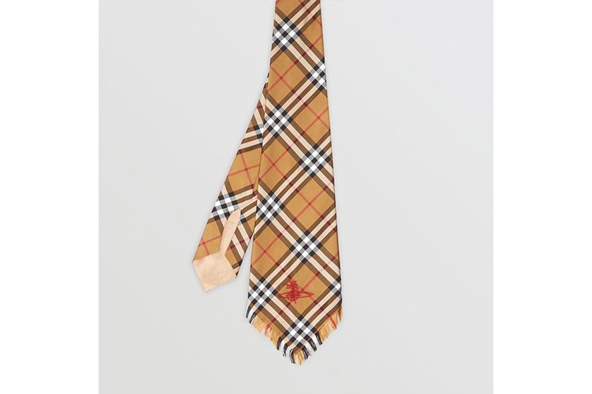 Burberry and Vivienne Westwood Wide Cut Vintage Check Silk Tie