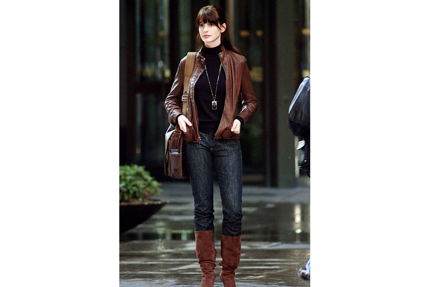 Anne Hathway Winter Style from The Devil Wears Prada Turtleneck Top