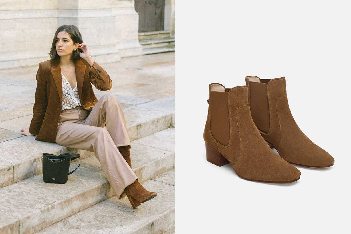 French Blogger Zara Leather Ankle Boots