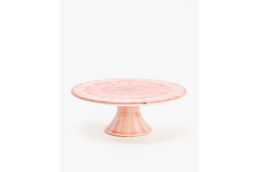 Zara Watercolour Design Earthenware Tiered Serving Dish