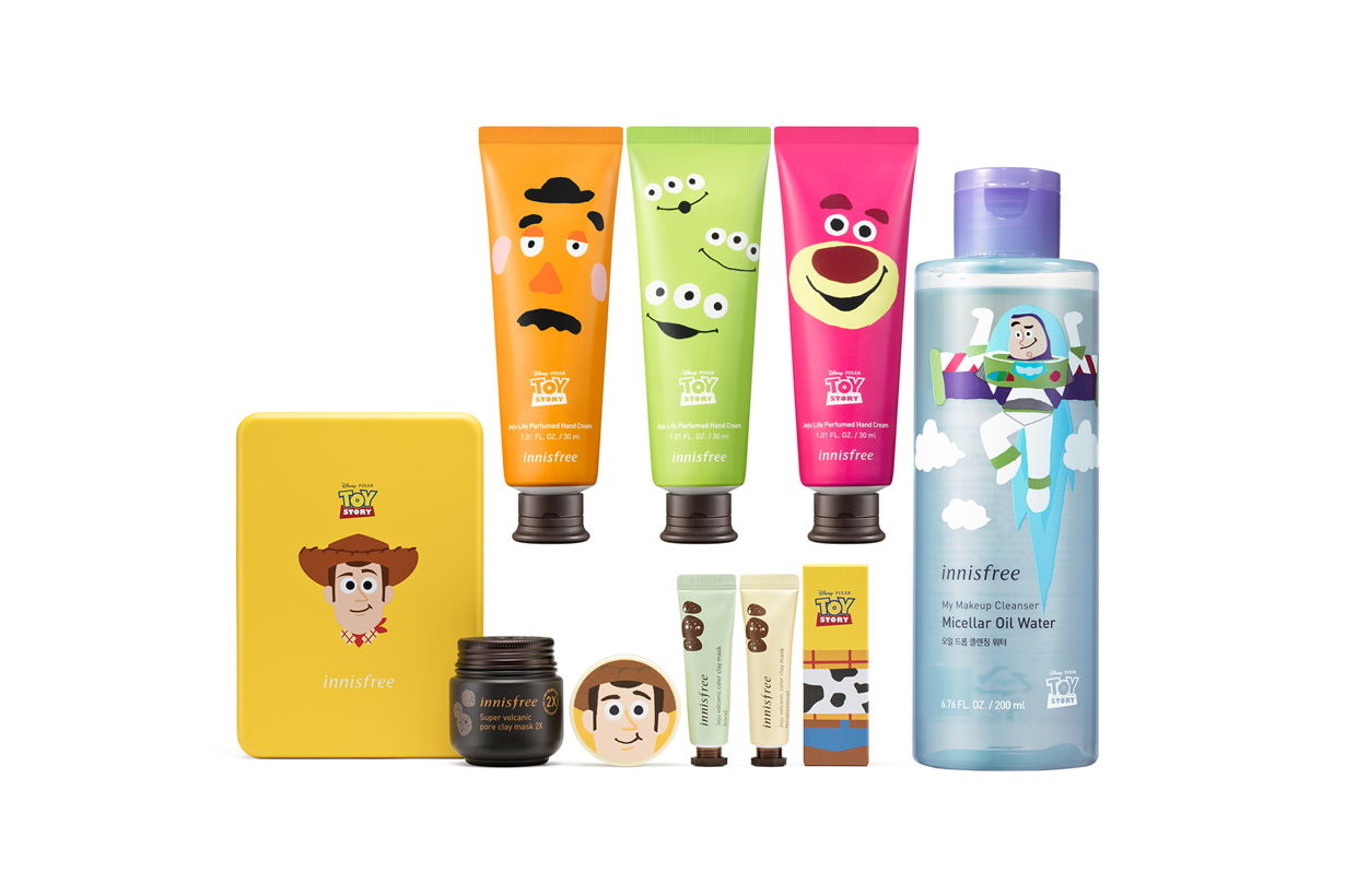 Innisfree Toy Story Disney Pixar Collaboration Collection Crossover Woody Buzz Lightyear Mask Lotion Lip Balm Nail Polish Makeup remover K Beauty Korean Skincare Cosmetics