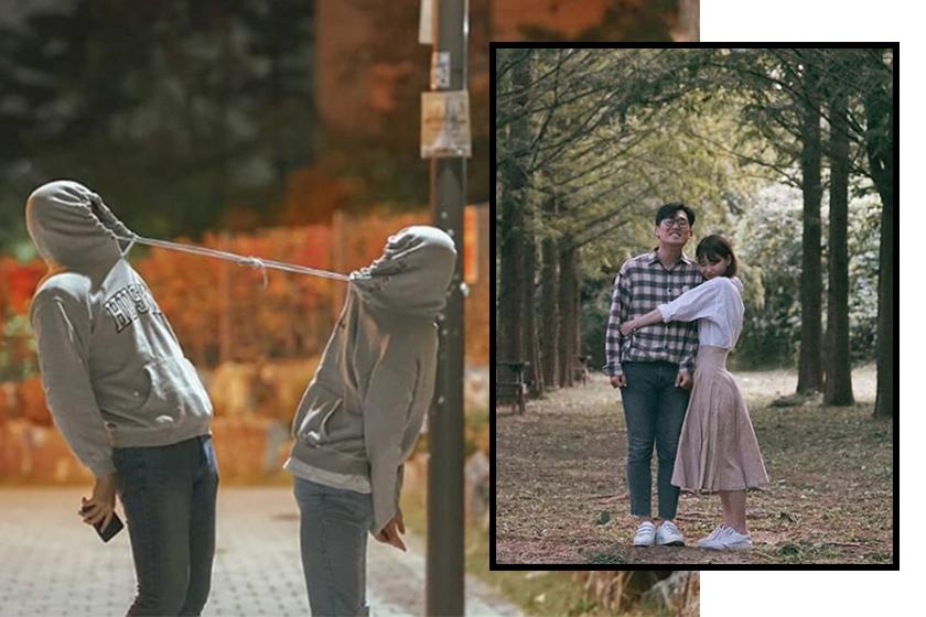 韓國情侶另類放閃照 – Popbee