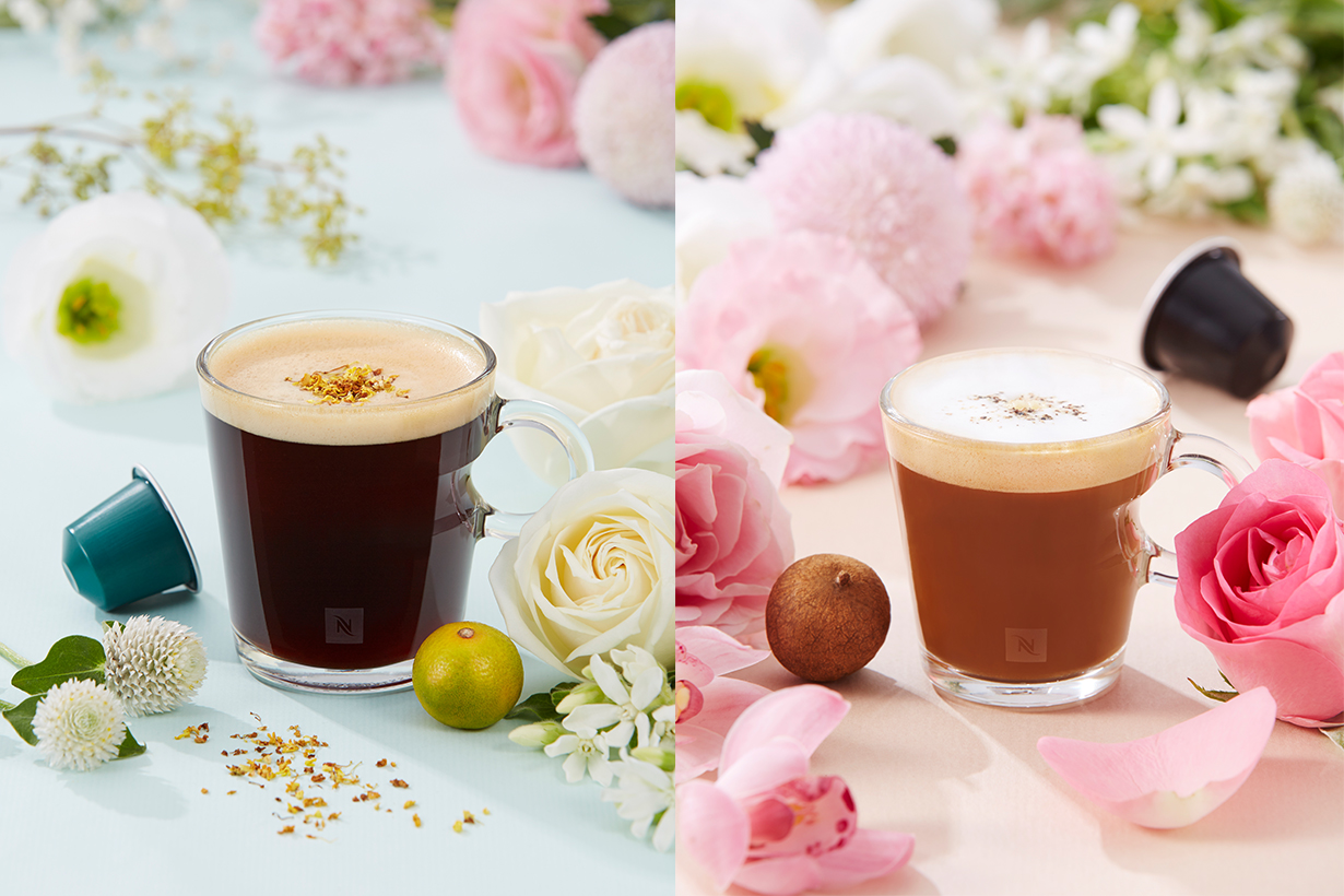 左「富桂桔祥咖啡」、右「開運福圓卡布其諾」