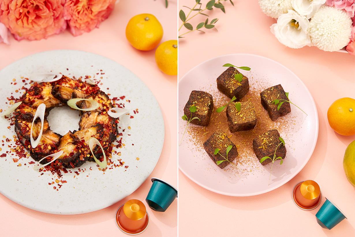 左「豬圓玉潤烤五花」、右「好咖黑糖年糕」