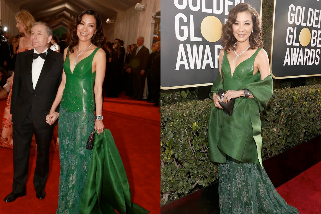 Michelle Yeoh golden globe crazy rich asians ring met gala same dress SHIATZY CHEN