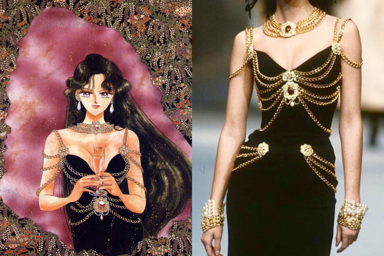 sailor moon chanel mugler wear haute couture