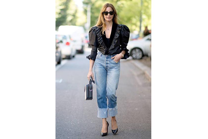 Baggy Jeans Heels Pumps Street Style