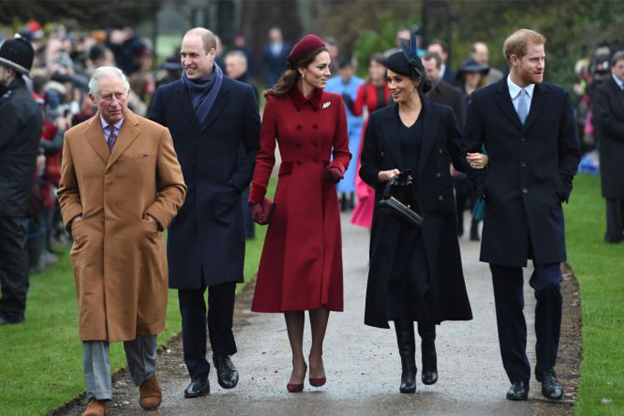 Kate Middleton Meghan Markle Prince William Prince Harry Christmas Body Language