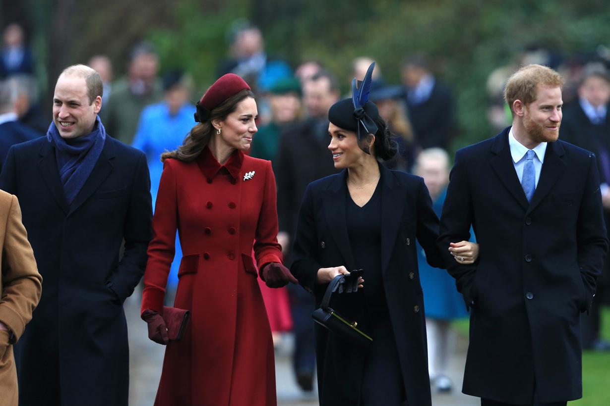 Kate Middleton Meghan Markle Prince Harry Prince William Christmas 2018 Body Language