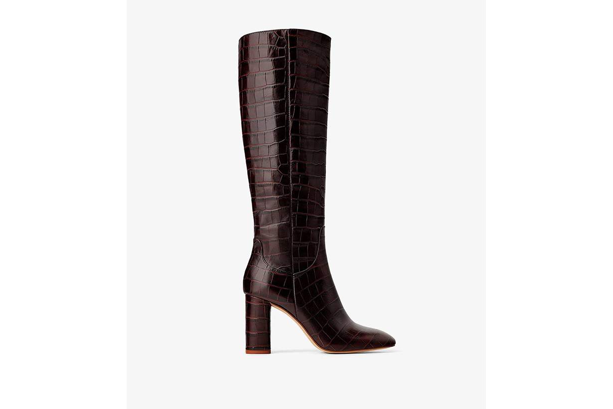 Zara Heeled Animal Print Boots