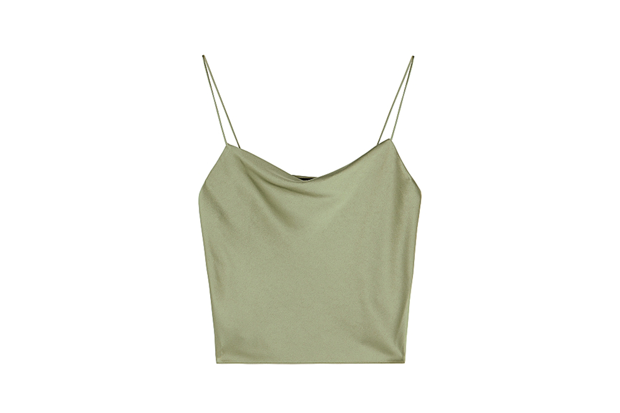ALICE + OLIVIA  Harmon sage satin top