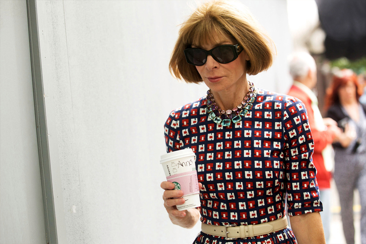 Anna Wintour Vogue Chief Editor Coffe