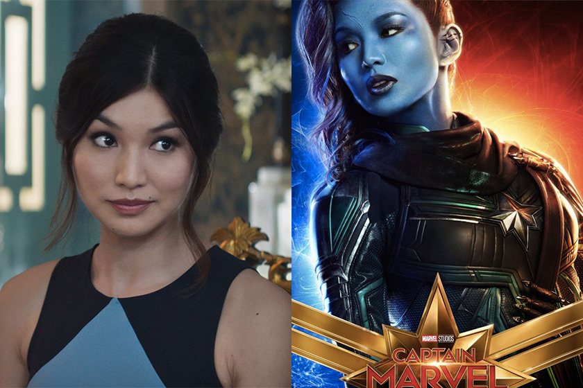 captain marvel character posters Doctor Minerva Gemma Chan Cat Goose
