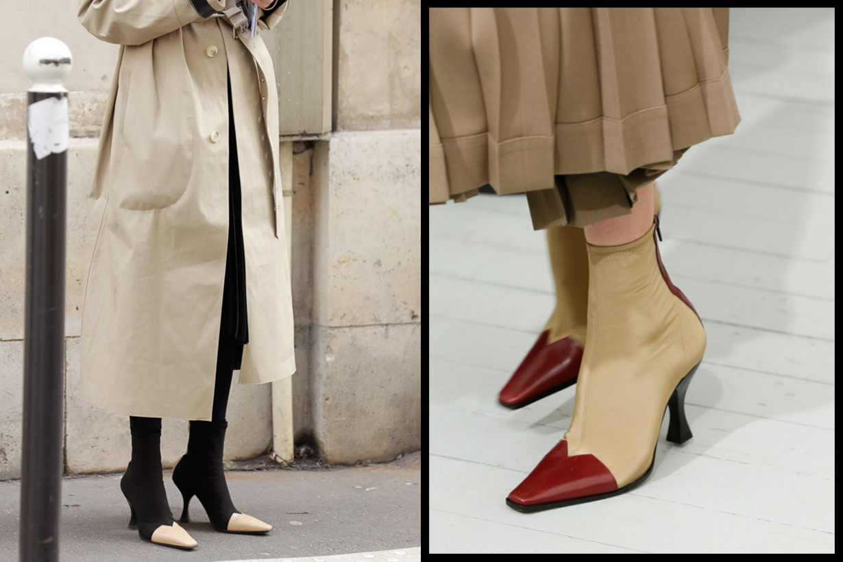 Old Celine Madame Ankle Boots Street Style