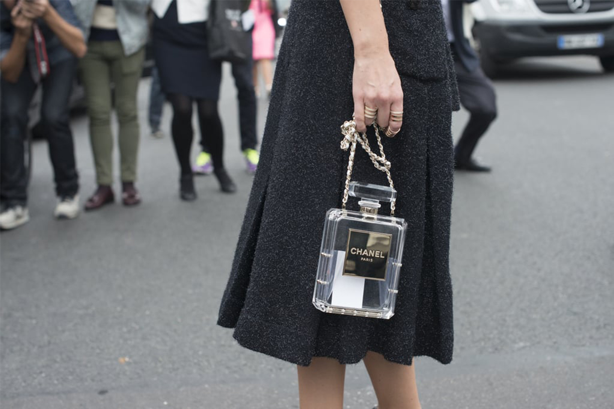 Chanel perfume bottle Street Style