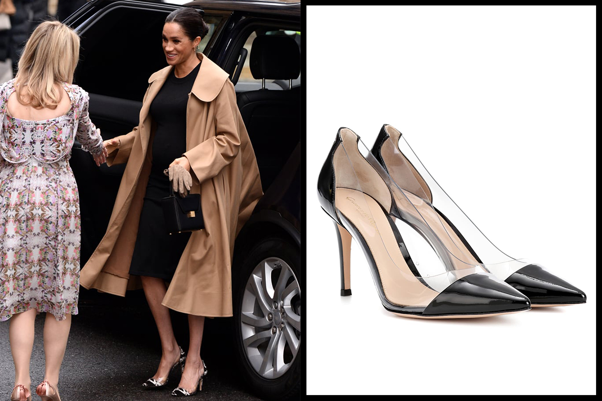 Gianvito Rossi Leather Transparent Pumps Meghan Markle