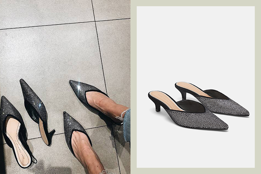 Zara heeled-mules