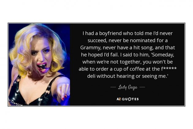 Lady gaga ex boyfriend quotes
