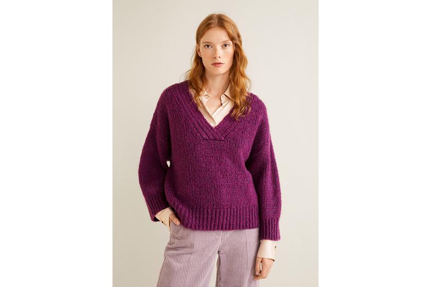Mango Chunky Knit Sweater.