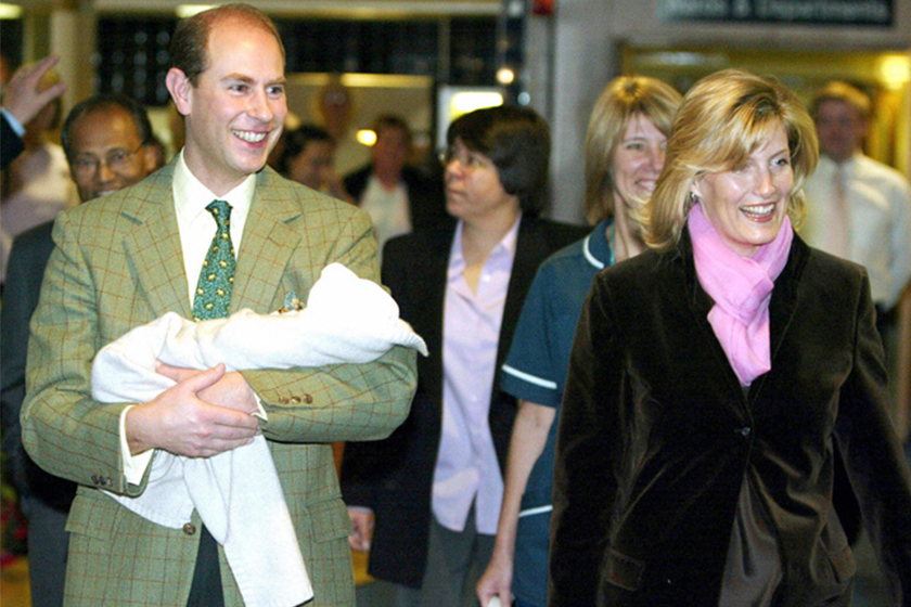 Prince Edward's wife Sophie gave birth to her children at Frimley Park Hospital