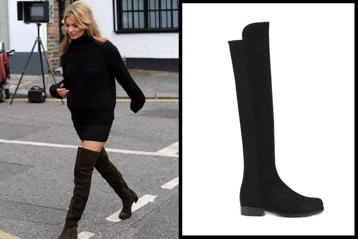 Stuart Weitzman 5050 Boots Kate Moss Street Style