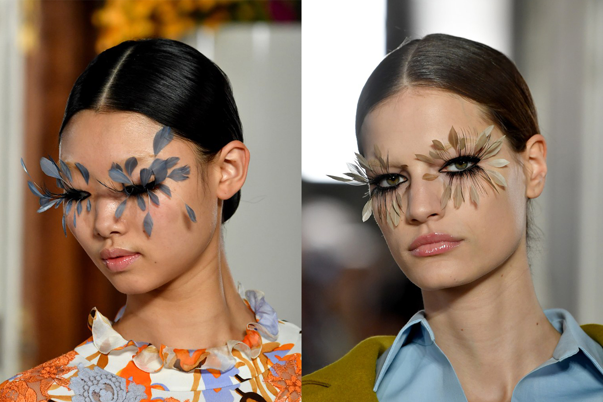 Model Backstage Floral Eyelashes