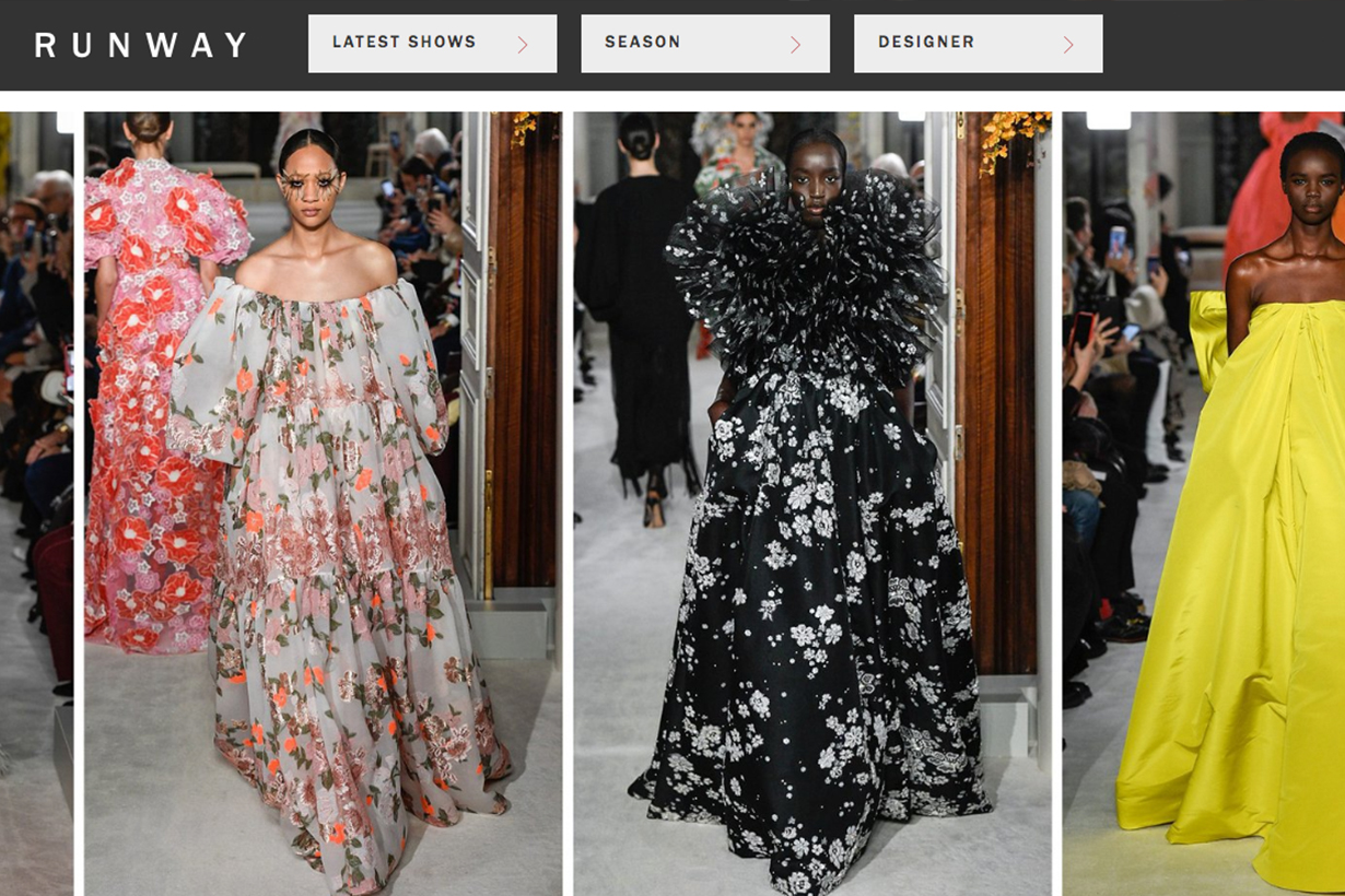 Vogue Runway Website Valentino