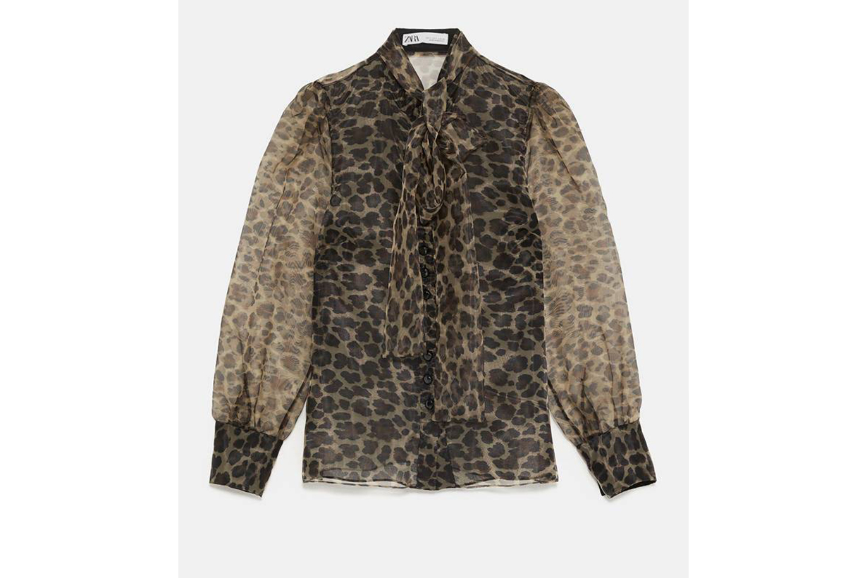 Zara Animal Print Blouse