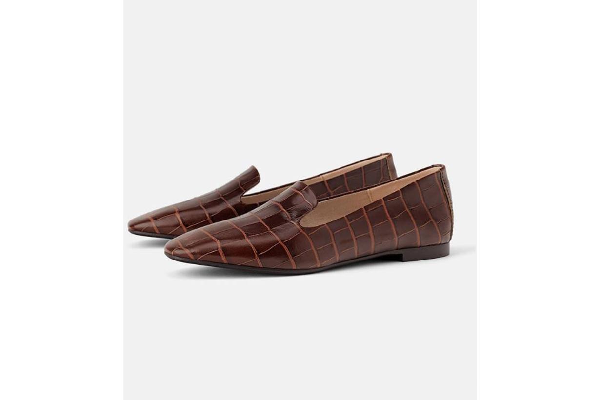 Zara Animal Print Flat Shoes
