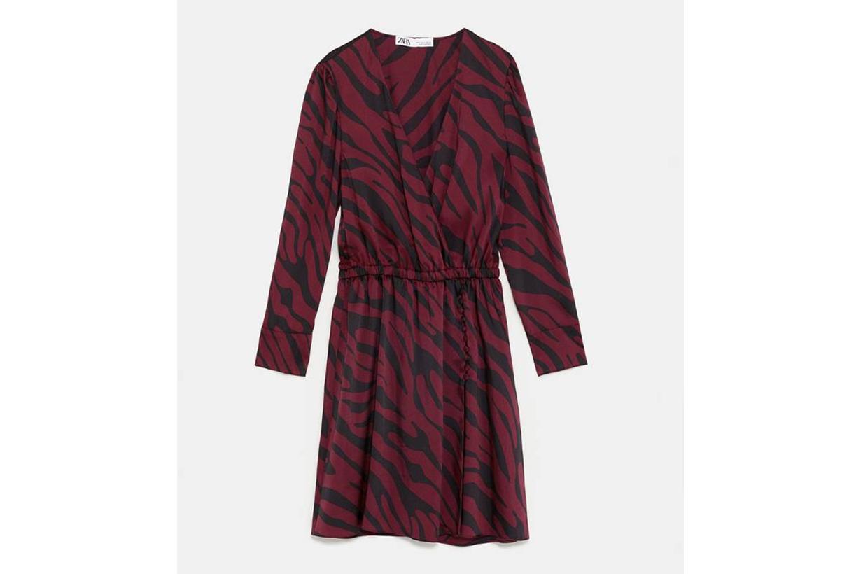 Zara Animal Print Wrap Dress