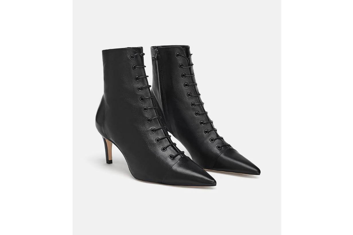Zara Lace-up Leather Boots