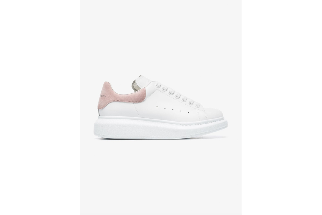 Alexander McQueen White Chunky Leather Low-Top Sneakers
