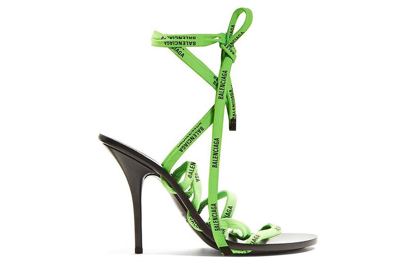 Balenciaga Logo-Laced Wrap-Around Sandals
