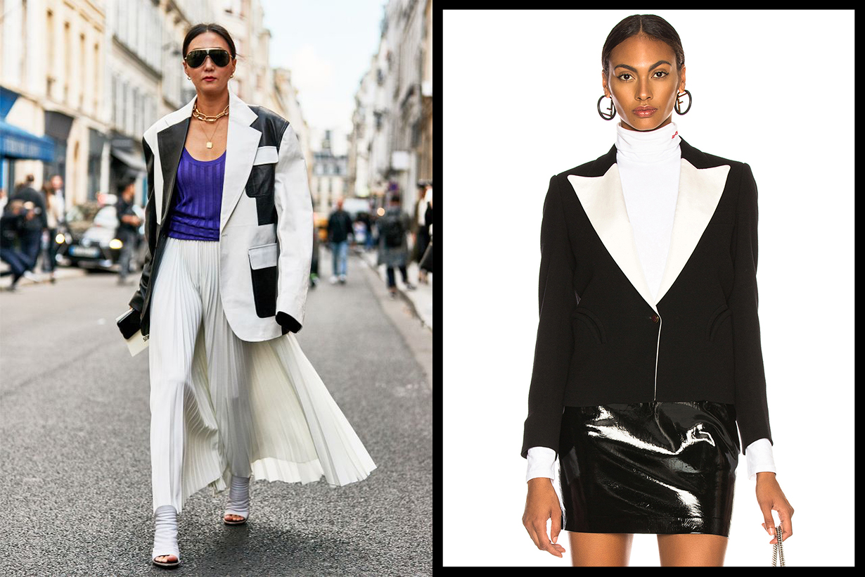 Black and White Blazer Street Style