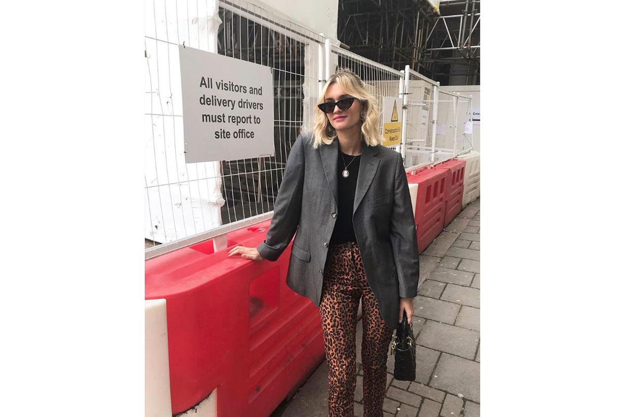 Oversized Blazer Leopard Prints Pants French Blogger