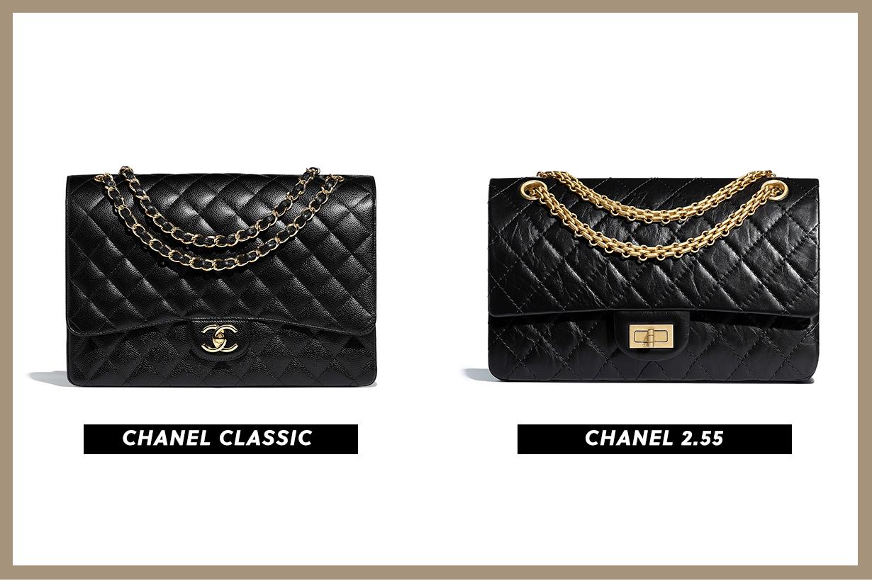 chanel classic flap 11.12 VS 2.55