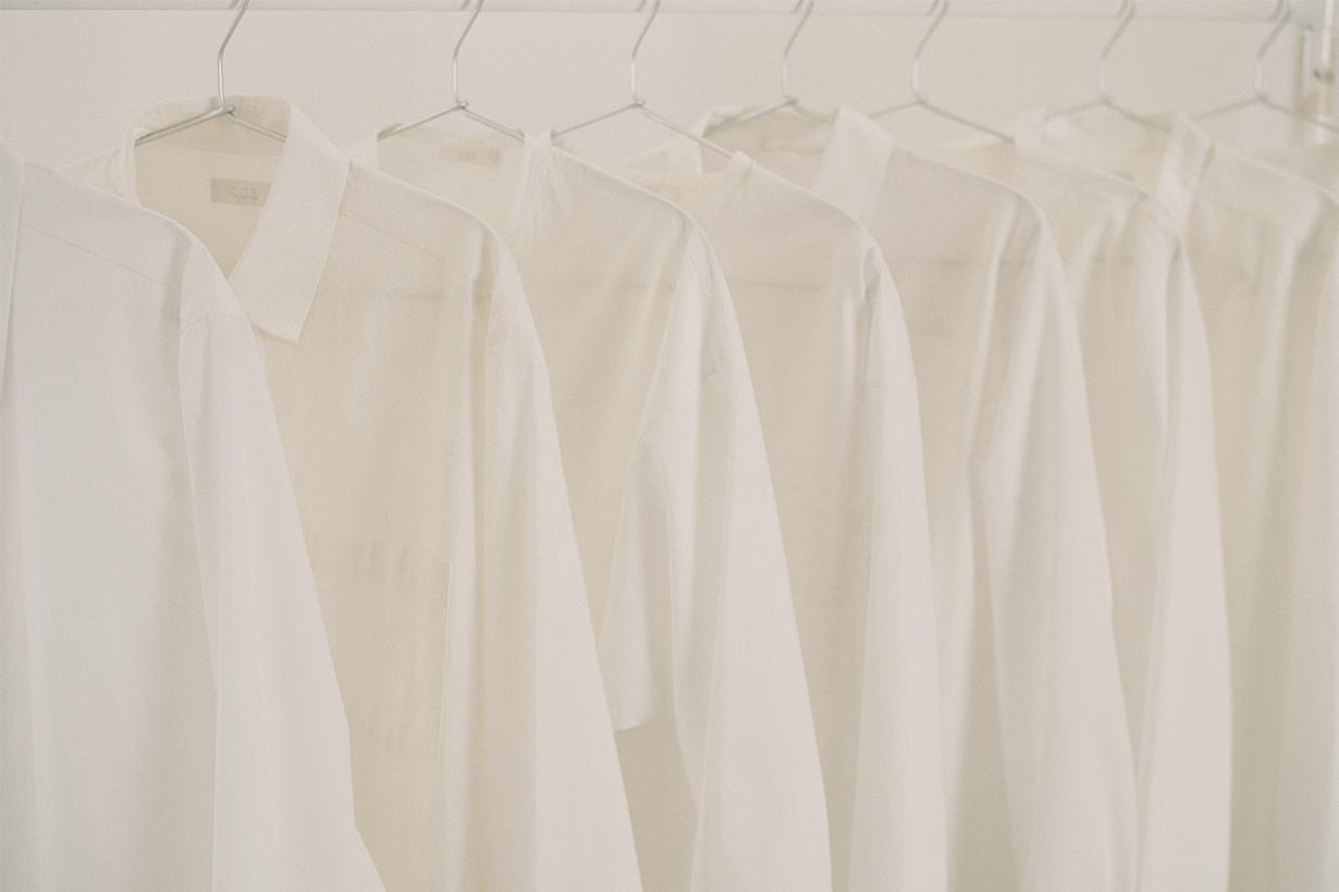 cos white shirt