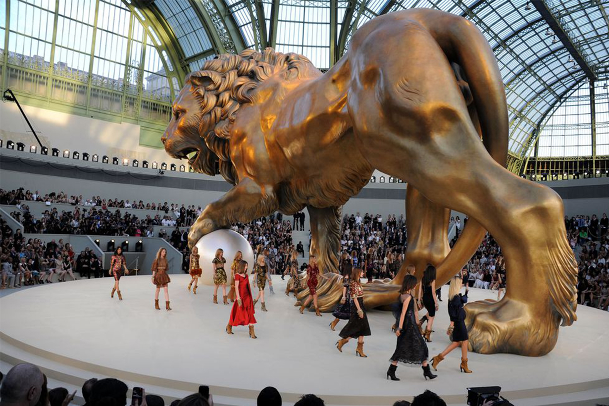 Chanel Giant Lion Runway
