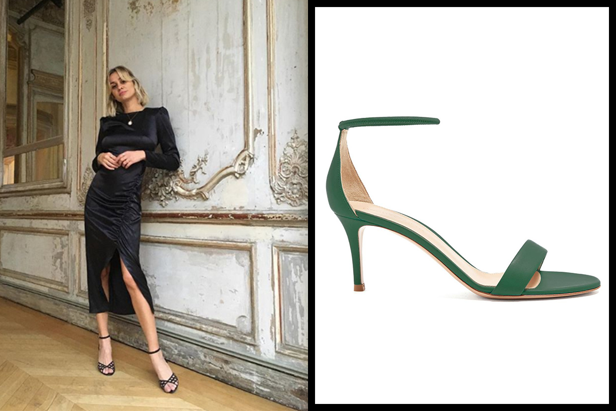 Gianvito Rossi Asia 70 Leather Sandals
