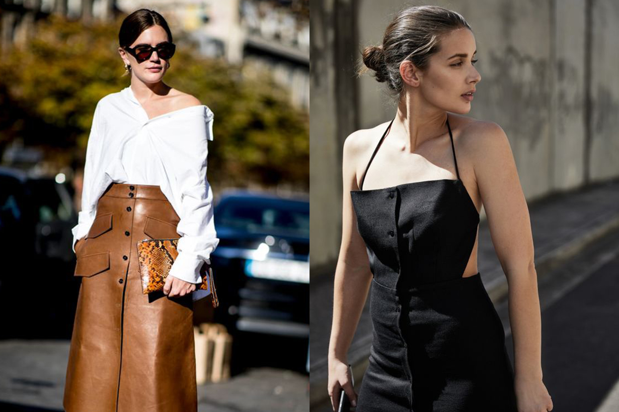 Off Shoulder Halter Neck Outfits Street Style