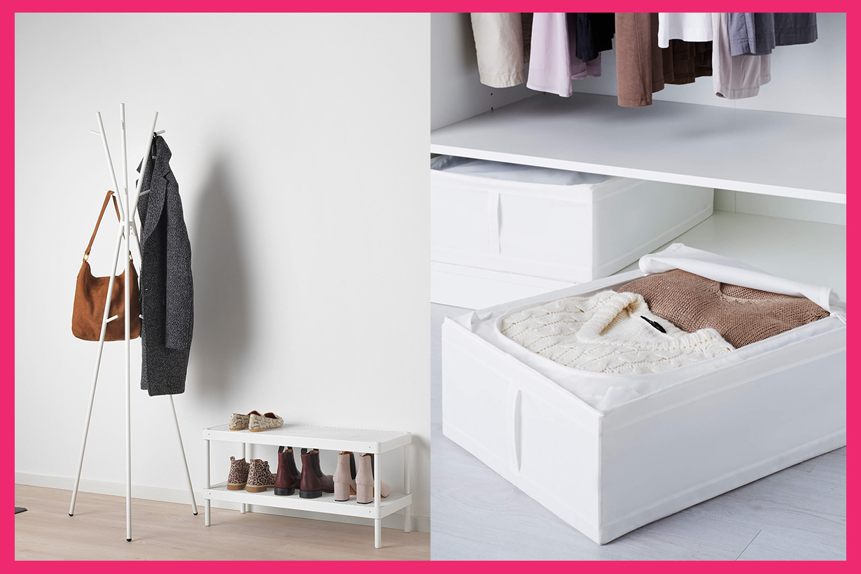 Ikea Fashion Editors buy products wardrobe hanger hat stand boxes accessories plant home decorations home and living