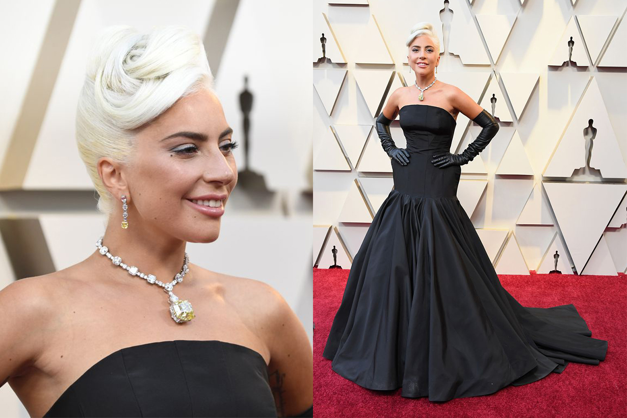 Lady Gaga Oscar Red Carpet 2019 Tiffany & Co. Necklace