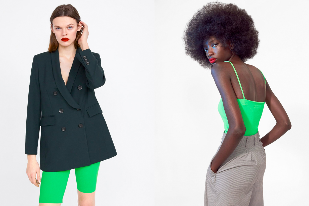 zara 2019 spring trends new in color natural neon pastel