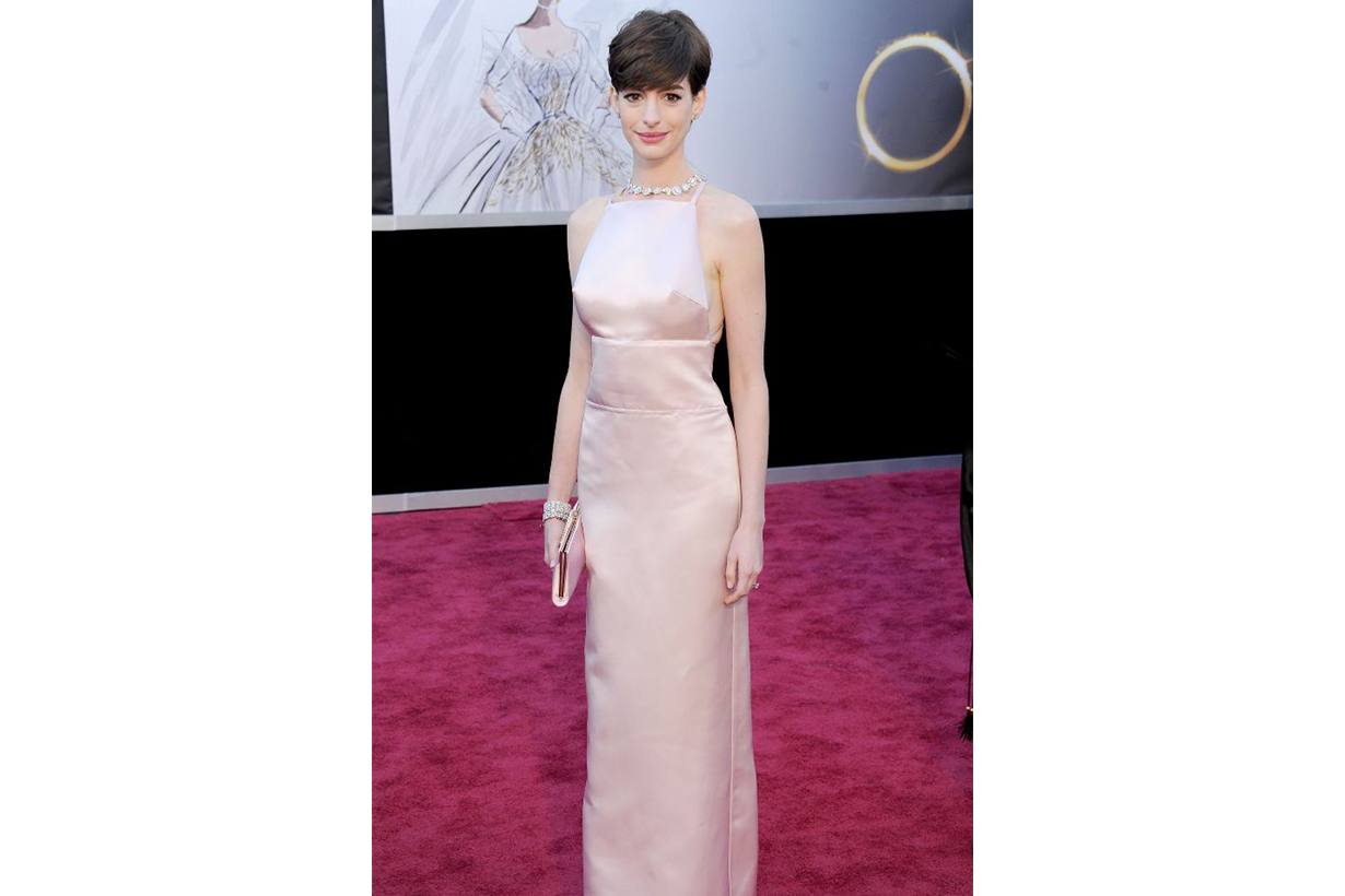 Anne Hathaway Prada dress