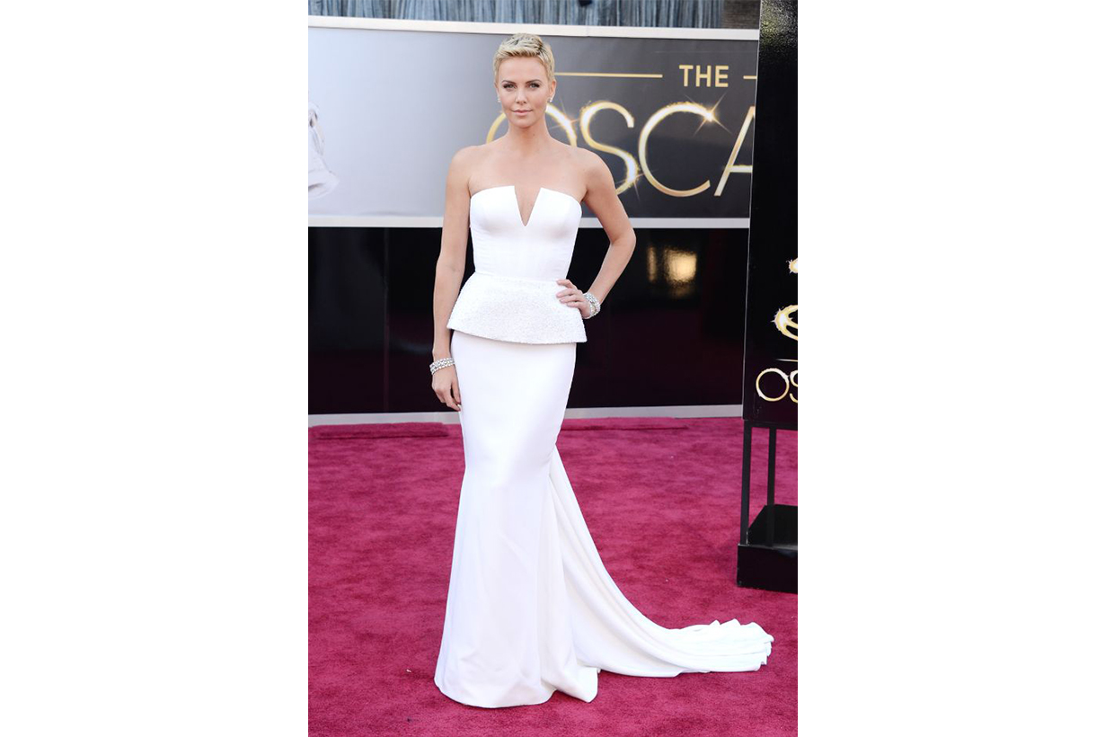 Charlize Theron Dior dress