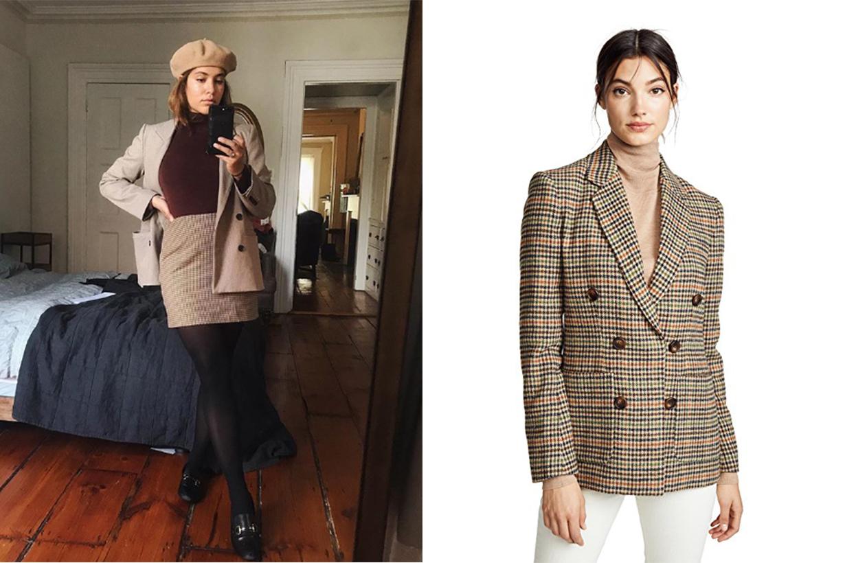 French Style Blazer Fashion Rachel Antonoff Vivian Blazer